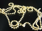 New Men Yellow Gold Finish Sterling Silver Moon Cut Beaded Chain 30,22 & 24 inch