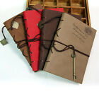 Vintage Leather Retro A6 Notebook Binding Diary Journal with Key Book Memories