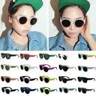 Retro Vintage Fashion Women Men Unisex Round Glass Wayfarer Sunglasses 140*57mm