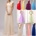 New 12-Colour One-Shoulder Bridesmaid/Prom Dress Long Evening Gowns Size 6-26