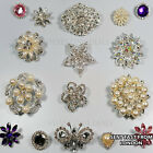 LUXURY BROOCHES WEDDINGS VINTAGE FLOWER BROOCH RHINESTONE DIAMANTE DECORATIONS