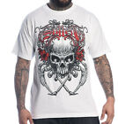 SULLEN CLOTHING DEATH BADGE WHITE SKULL CALI WEST COAST TATTOO INK SCENE T SHIRT