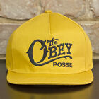 Obey Quality Delivery Authentic Snapback Baseball Cap Mustard Yellow