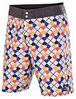 Quiksilver Men's Tioga Diamond Dobby Board Shorts-White/Multi