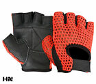 Mesh Leather Gloves Weight Lifting Padded Fitness Cycling Gym Sports Wheel Chair