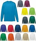 MEN'S MOISTURE WICKING, LONG SLEEVE, RUNNING, SPORT, ATHLETIC T-SHIRT S-XL 2X 3X