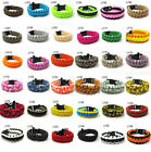 Hot Paracord Parachute Rope Bracelet Wristband Survival Camping Hiking Climbing