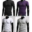 Men's Slim Fit V-Neck Short Sleeve Bottoming Cotton Casual T-Shirt Tee Tops GT56
