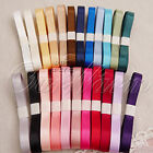10pcs 1YD Satin Ribbon MIX Color Wedding Party Decor  Random Color 5 Size U Pick