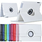 New 360 Rotating Stand Leather Folio Smart Case Cover For Apple iPad 2 3 4 UK