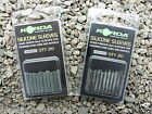 Korda Silicone Sleeves Camo Green oder Muddy Brown in 3mm 20 Stück