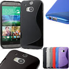 Grip S-Line Wave Silicon Gel Skin TPU Back Case Cover For HTC One M8
