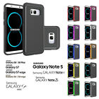 DUAL LAYER SHOCK PROOF HARD SILICON CASE FOR SAMSUNG GALAXY S8 + S7 6 5 NOTE 345
