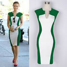 Vintage Fashion Womens slimming Stretch bodycon Business Party Prom Pencil Dress