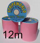 Self Adhesive Baby Pink Vinyl Stripes Many Widths for Car Caravan Boat 12mtrs