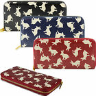 Ladies Bunny Rabbit Print Oilcloth Designer Zip-Around Purse Bag Wallet Handbag