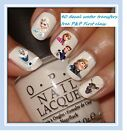 PK OF 40 NAIL ART WATER TRANSFER DECALS STICKERS PARTY FAVOURS DISNEYS FROZEN