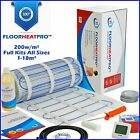 Bathroom Wetroom Electric Underfloor Undertile Heating Kit 200w ALL SIZES 1-18m²
