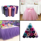 "12"" X 100 Yards Tulle Roll Tutu Spool Gift Wrap Craft Wedding Party Xmas Decor"