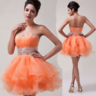 Strapless TUTU Sparkle Bridesmaid Cocktail Dancing Birthday Evening Prom Dress