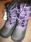 GIRLS CHILDS KHOMBU BLACK THERMAL SNOW RAIN SHOWER WATER PROOF BOOTS UK 12