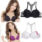 1pc Sexy Fashion Womens Front Closure Lace Racer Back Racerback Push Up Bra