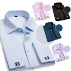 PJ New In Men's Gorgeous French-Cufflinks Long Sleeve JS Shirt Tops Casual Shirt