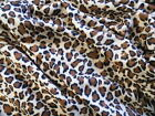 NEW Pet blanket Dog Cat puppy kitten BROWN LEOPARD PRINT Soft fleece bed 3 sizes