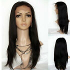 """New fashion Front Lace Wig Malaysia YAKI Straight HUMAN HAIR Indian Remy 8""""- 22"""""""