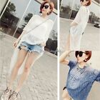 Sexy Women Lady Crochet Swimwear Bikini Cover Up Beach Dress Long Shirt C1MY