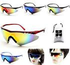 V3002-VP Sport Cycling Running Baseball Golf Wrap Mirrored Sunglasses+Pouch