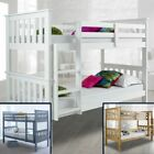 Atlantis Wood Bunk Bed 3ft Single with 4 Mattress and 2 Colour Options