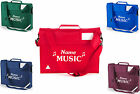 PERSONALISED MUSIC BOOKBAG WITH STRAP SCHOOL CHILD'S JUNIOR BOOK BAG VERY ROOMY