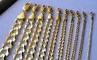 "AUTHENTIC 10K SOLID GOLD MEN /WOMEN CUBAN LINK CHAIN SIZE16-36"" FREE SHIPPING"