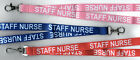 New! 1 x STAFF NURSE Neck Strap Lanyards: Pink or Blue: FREE UK P&P