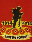 1914 2014 lest we forget poppy embroidered polo shirt Short Sleeve and uneek