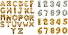 """Letter&Number Foil Balloons Party Birthday Wedding Decoration 16"""" Silver & Gold"""