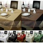 Chequers Check Jacquard Tablecloth in Various Colours, Shapes & Sizes