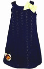 Girls Party Dress Dora the Explorer Navy/Lime Bow Embroidered New Licensed