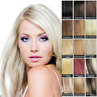 16''  7pcs set full head Clip In Remy Human Hair Extensions 100% real hair top