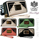 LYDC Designer Ladies Women Vintage Bow Faux Leather Purse Wallet Clutch handbag