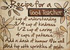 Recipe for a Good Teacher, Funny gift A4 Vintage POSTER