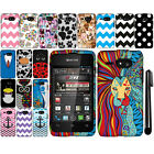 For Kyocera Event C5133 Art Design PATTERN HARD Protector Case Cover Phone + Pen