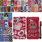For LG Mach Cayenne LS860 DIAMOND BLING CRYSTAL HARD Case Phone Cover + Pen