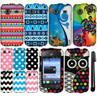 For ZTE Whirl Z660G Design PATTERN HARD Case Phone Cover Accessory + Pen