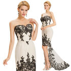New Mermaid Applique Pageant Prom Evening Party Wedding Dresses Formal Ballgown