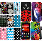 For ZTE Majesty Z796C Source N9511 Colorful PATTERN HARD Case Phone Cover + Pen