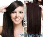 one piece clip in remy human hair extensions full head set 100% real 16''-30''