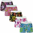 WOMENS SUMMER SWIMMING SHORTS LADIES FLORAL BEACH SURF BOARD BOTTOMS SIZE S-XL