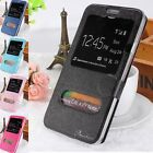 View Flip Stand Leather Case Cover For iphone 5s Samsung Note 2 3 S5 G900 i9500